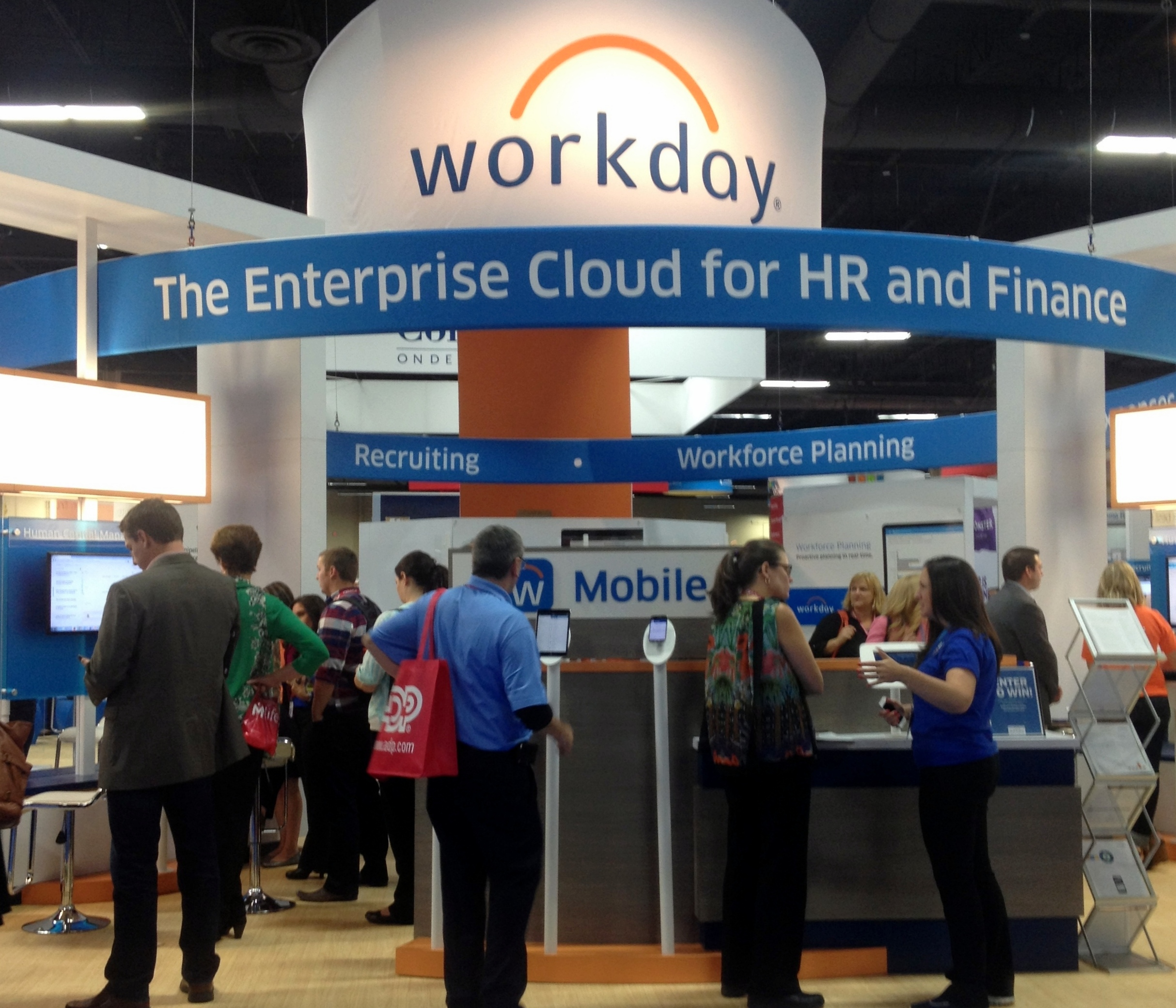Workday Booth at HR Tech 2014