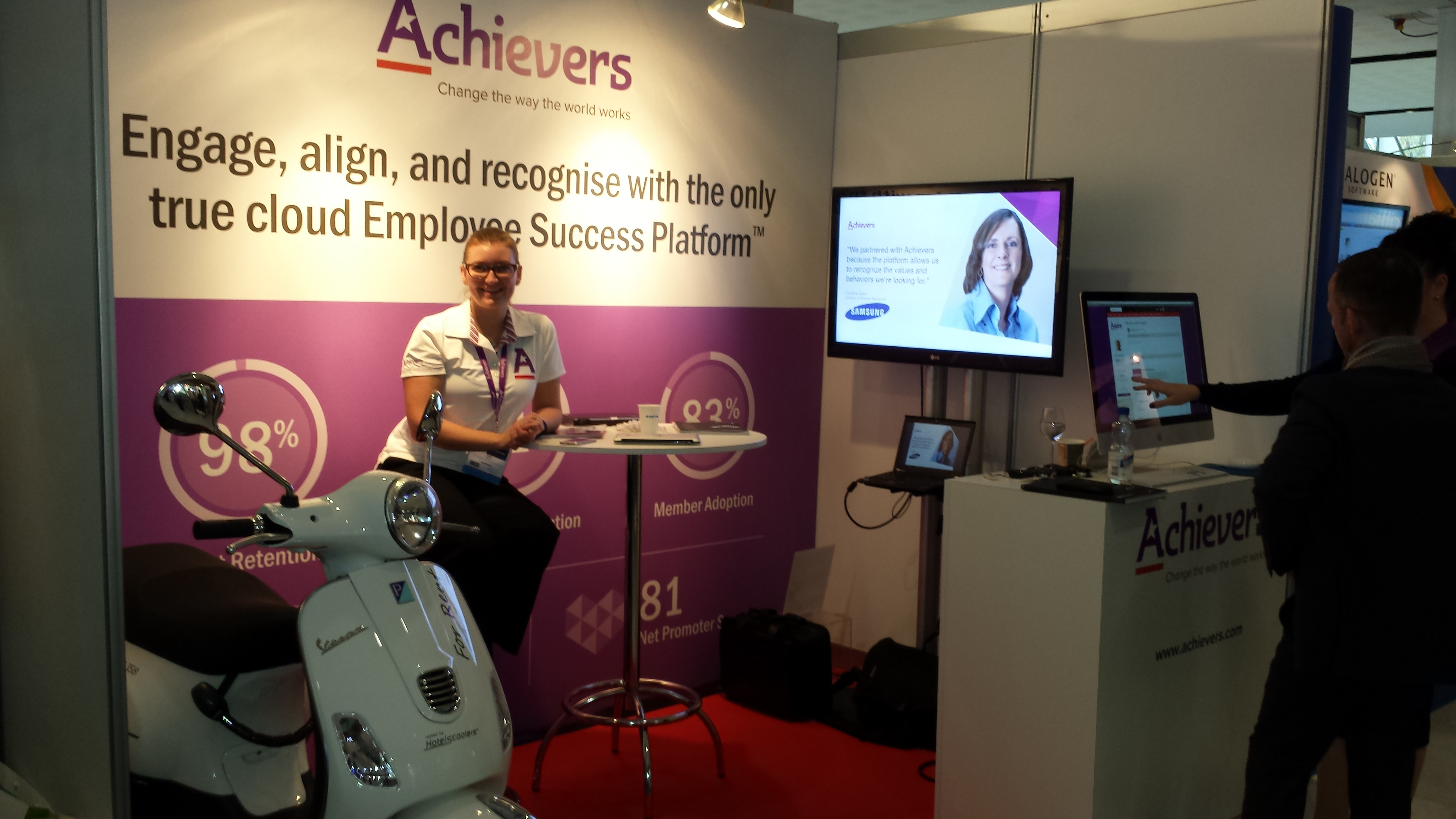 Katie-Paterson-@-Achievers-booth-@-HR-Tech-Europe-2014