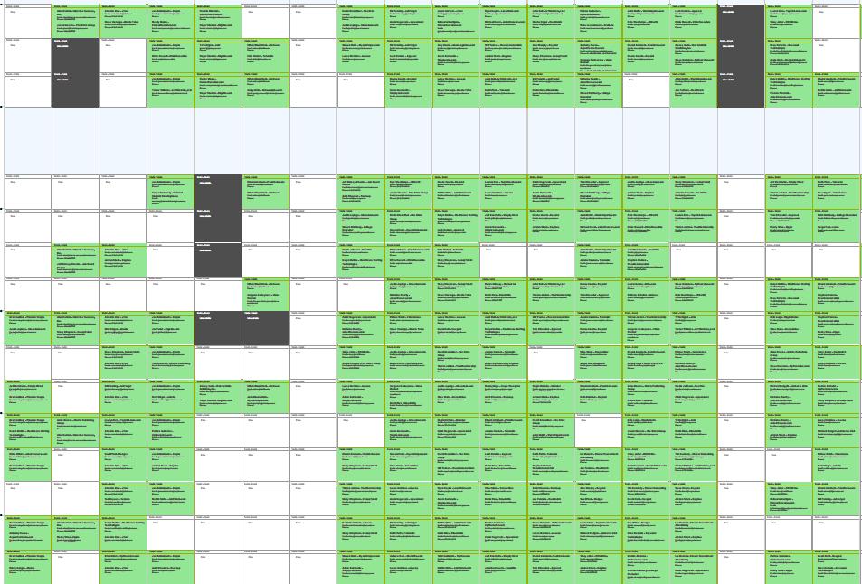 Screen Snip of Scheduled Meetings for TAtech Center for Deals & Alliances #HRTech