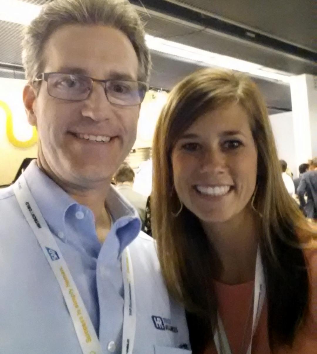 Ward @HRTechAdvisor & Lauren @HireVue selfie at #HRTechWorld #HRTech