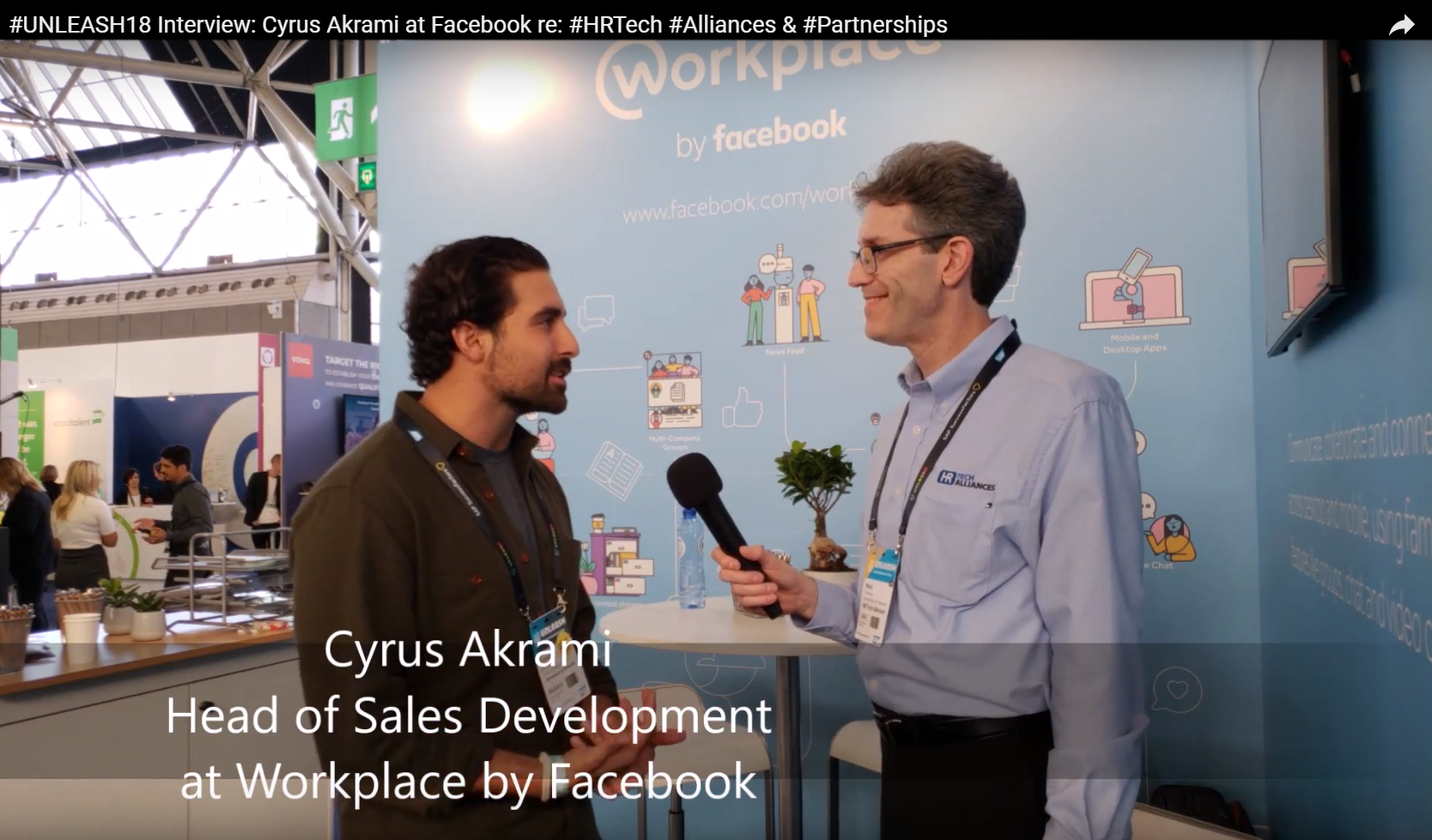 Cyrus Akrami @Facebook #HRTech #Alliances Video #Interview #UNLEASH18 #Partnerships @CAkrami @HRTechAdvisor